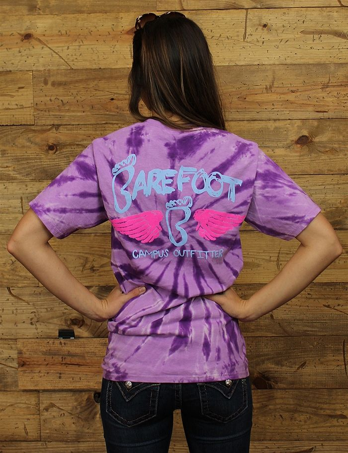 Get groovy with this tie dye Barefoot wing tee! Throw some color in your life with this tee today!!