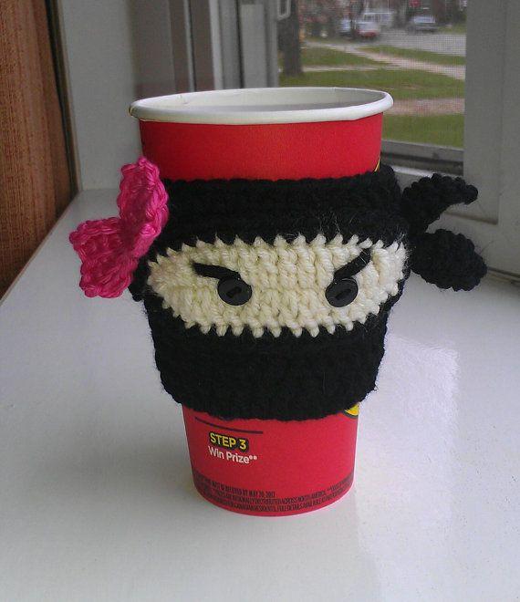 mug cozy crochet pattern | PDF CROCHET PATTERN Ninja cup cozy by ...