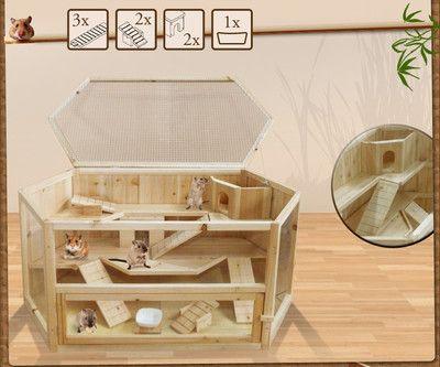 cage pour hamster rongeur petits animaux souris rat villa. Black Bedroom Furniture Sets. Home Design Ideas