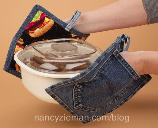 Here's a great tute on recycling at it's easiest and most useful! Create denim pot holders.