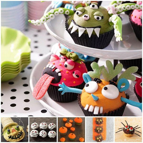 Recetas de Halloween cupcakes terroríficos Recetas - halloween decorating cupcakes