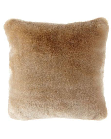 Polar Luxe Faux Fur Pillow Gold Decorative Pillows Fur