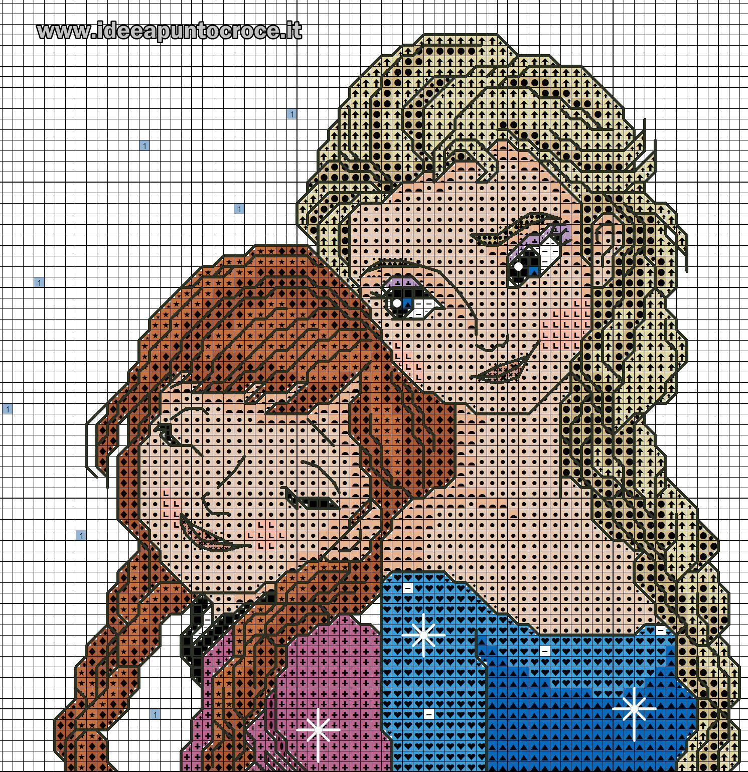 ENCANTOS EM PONTO CRUZ: Frozen | bordado | Pinterest | Häkelmuster ...