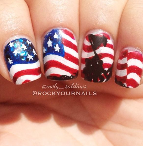 Amazing Memorial Day Nails! For our Fallen Soldiers | nails/uñas ...