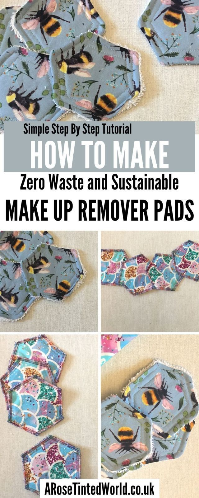 How To Make Reusable Make Up Remover Pads ⋆ A Rose Tinted World