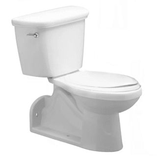 Proflo Pf1612pawh Pf1604pawh White 1 Gpf Two Piece Round Toilet With Left Hand Trip Lever And Rear Outlet Toilet Toilet Sink Girls Bathroom American standard rear outlet toilet