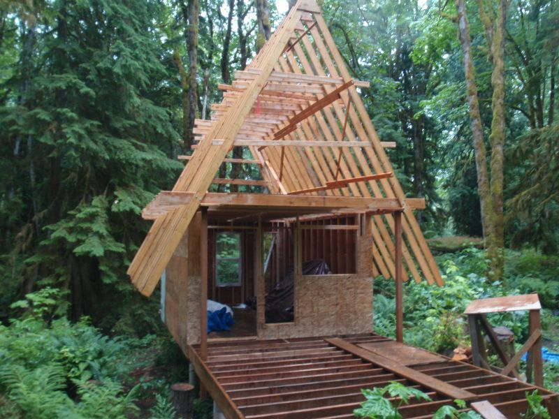 Small cabin plans a frame pads pinterest cabin tiny for A frame log cabin