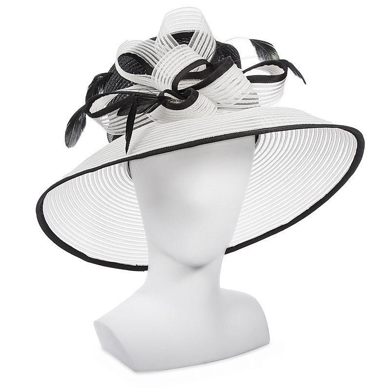 Croft & Barrow® Organza Big Brim Bow Floppy Hat