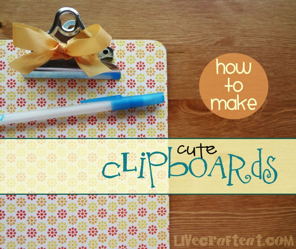 Craft Ideas Decorative Clipboard Paper Background Diy Crafts