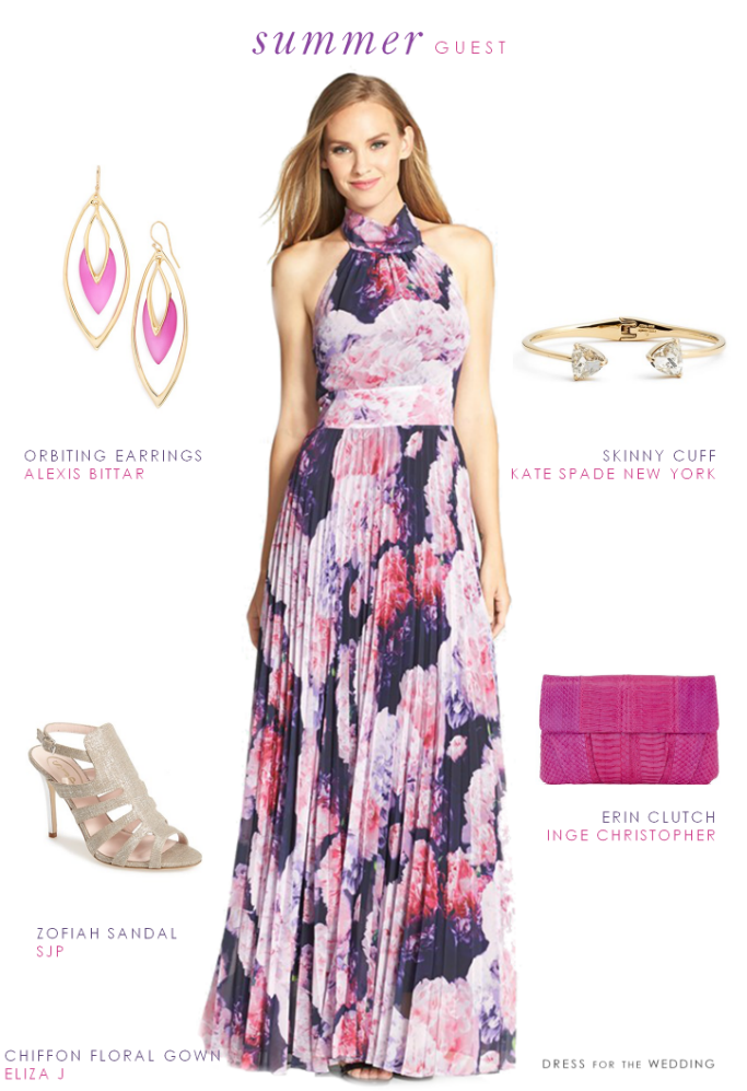 Wedding guest outfit for a late summer wedding purple for Dresses for weddings guest summer
