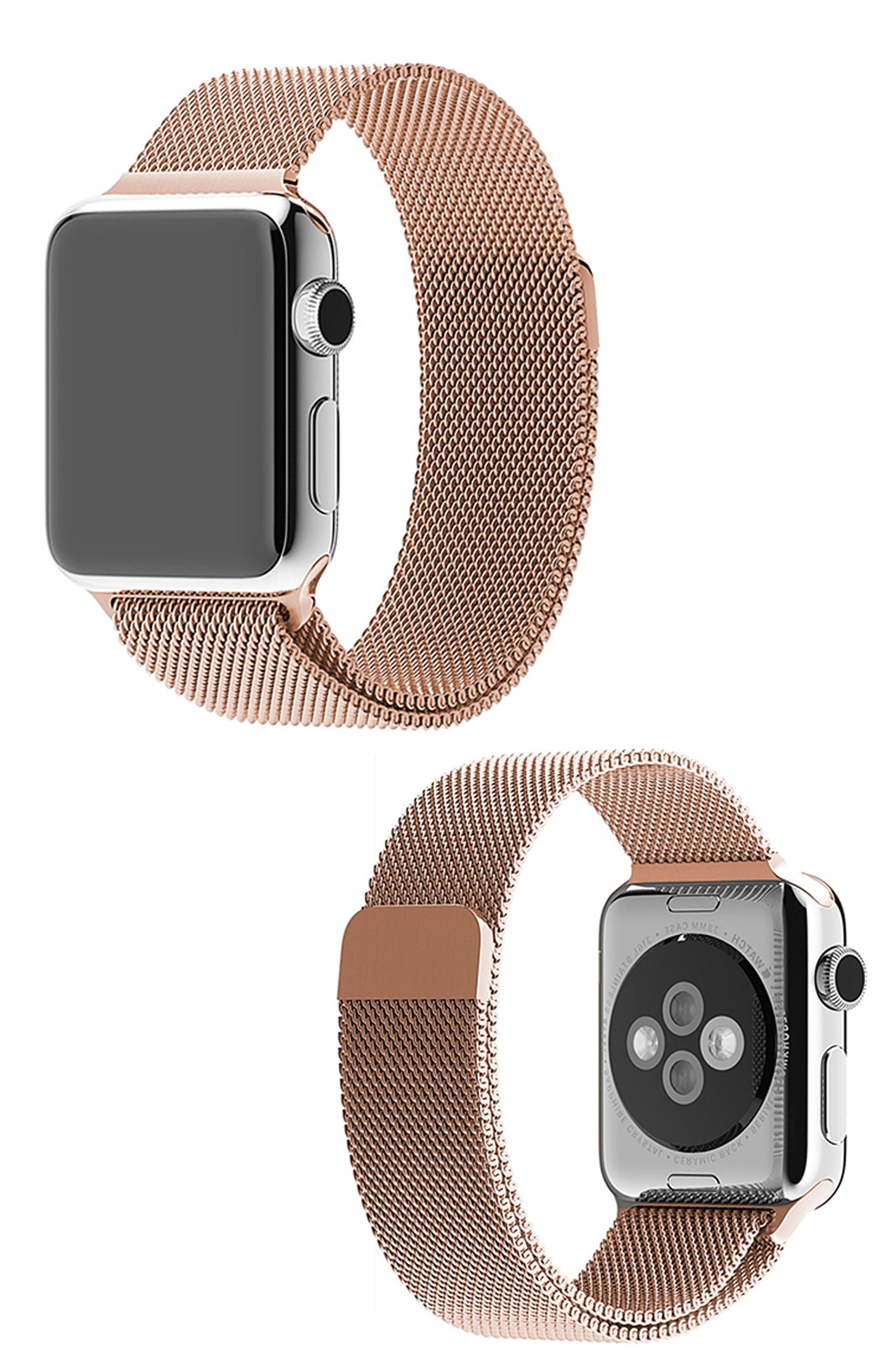 Waloo Milanese Loop Stainless Steel Apple Watch Band Apple Watch Fashion Rose Gold Apple Watch Apple Watch