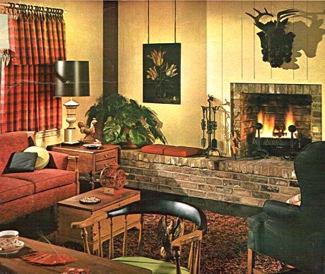 Captivating Granite And Stone Houses Of The 1940s And 1950s | 1960u0027s Sherwin Williams Living  Room