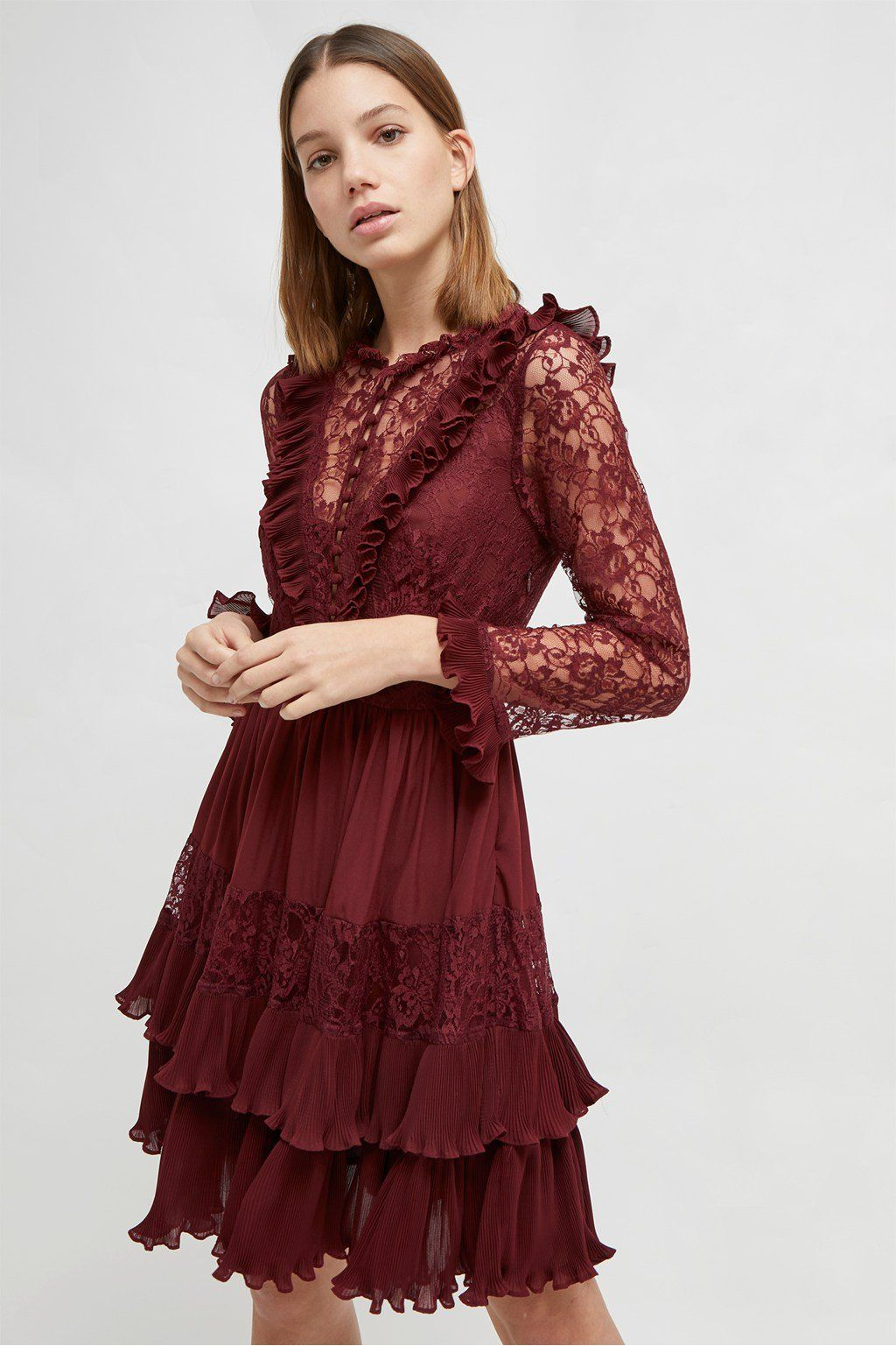 d4aed43cb87 Clandre Vintage Lace Mix Dress in 2019