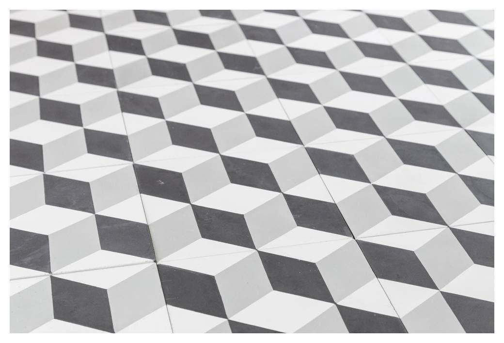 Medium Cubic Encaustic Tile Grey White Black Encaustic Tile Grey And White Black Tiles