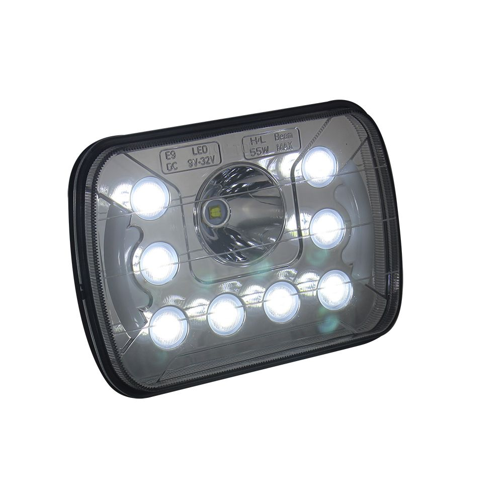 Commercial Electric Work Light Co Light 55W Led Work Light Driving Light 7 Inch 6500K Ip68 High Low