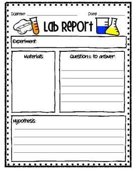 Lab Report | Second Grade Science | Science classroom, Lab report ...