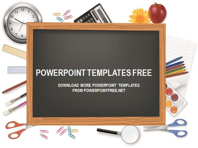 chalkboard powerpoint template free download ppt pinterest
