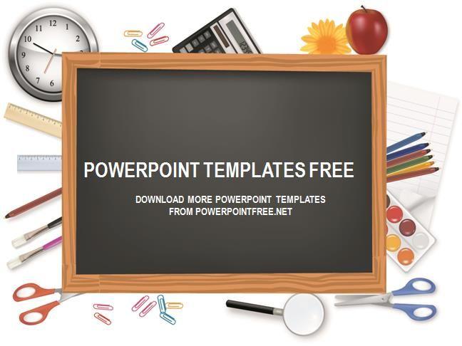 Chalkboard Powerpoint Template Free Download Ppt Pinterest