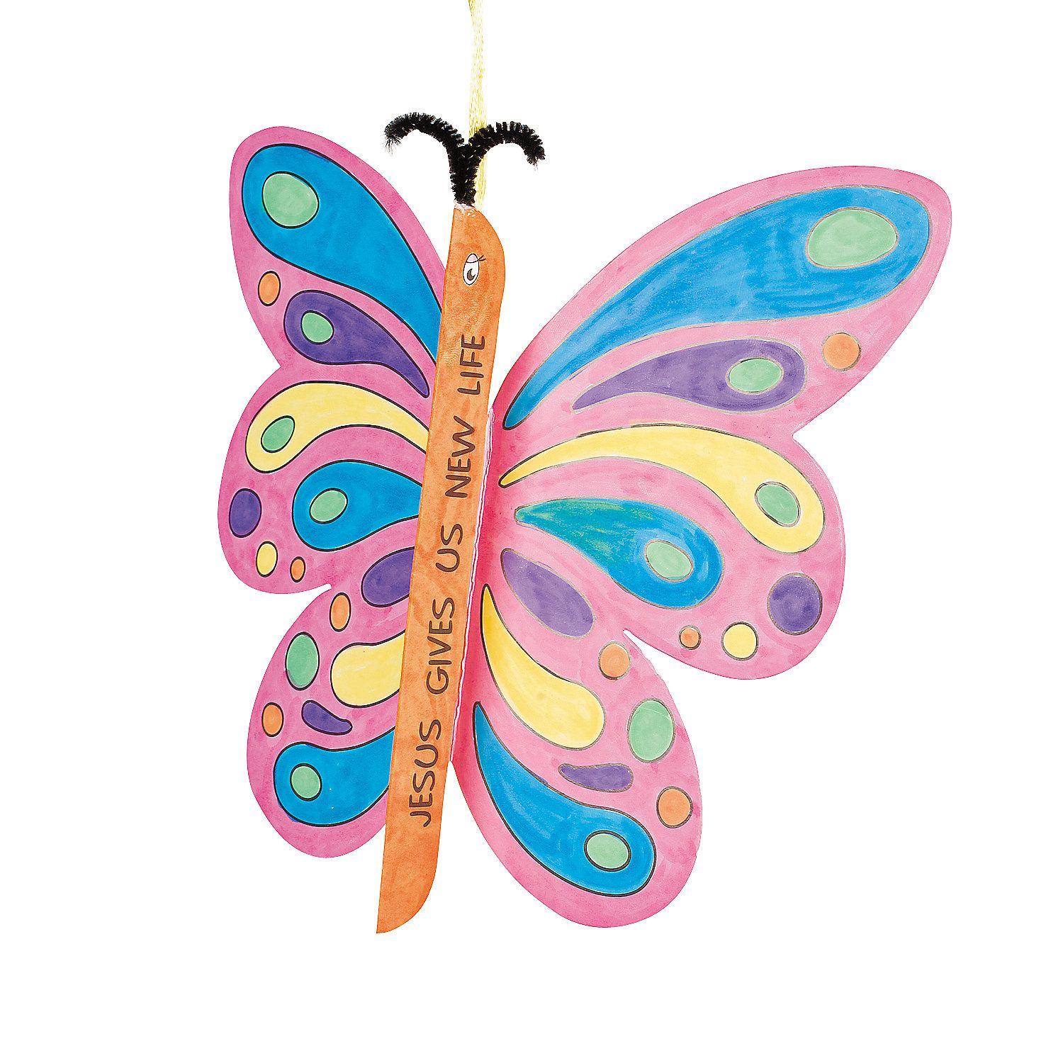 Color Your Own Good News Butterfly | Butterfly, Sunday school and Easter