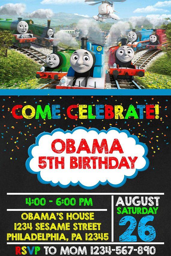 Thomas The Train Birthday Invitation Thomas The Train Birthday