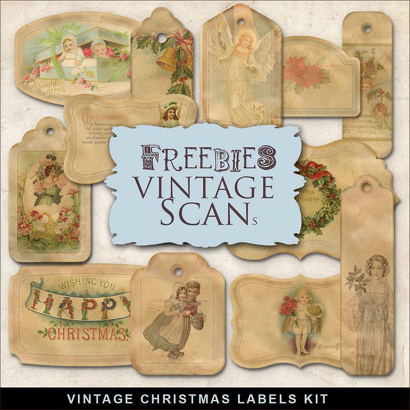 Far Far Hill: Freebies Vintage Christmas Labels | Printable's ...