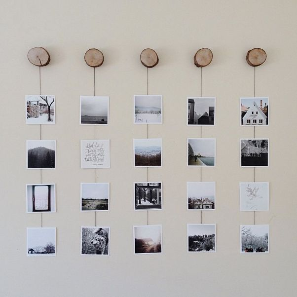 Photo Wall Collage Without Frames: 17 Layout Ideas #wallcollage