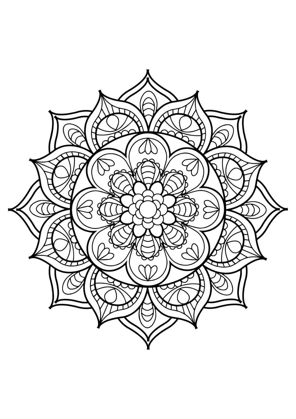 Mandala From Free Coloring Books For Adults 11 Mandalas Coloring Pages For Adults Just Color With Images Mandala Coloring Pages Adult Coloring Mandalas