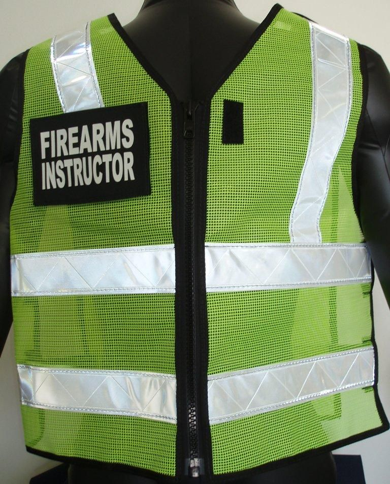 Mesh ANSI II Reflective Firearms Instructor Vest