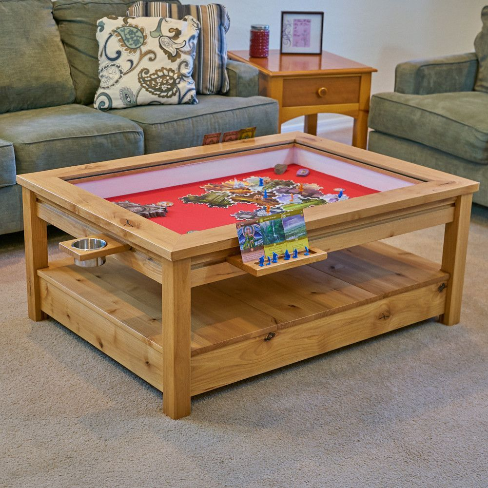 The Viscount Rustic Gaming Coffee Table Coffee Table Table Games Puzzle Table