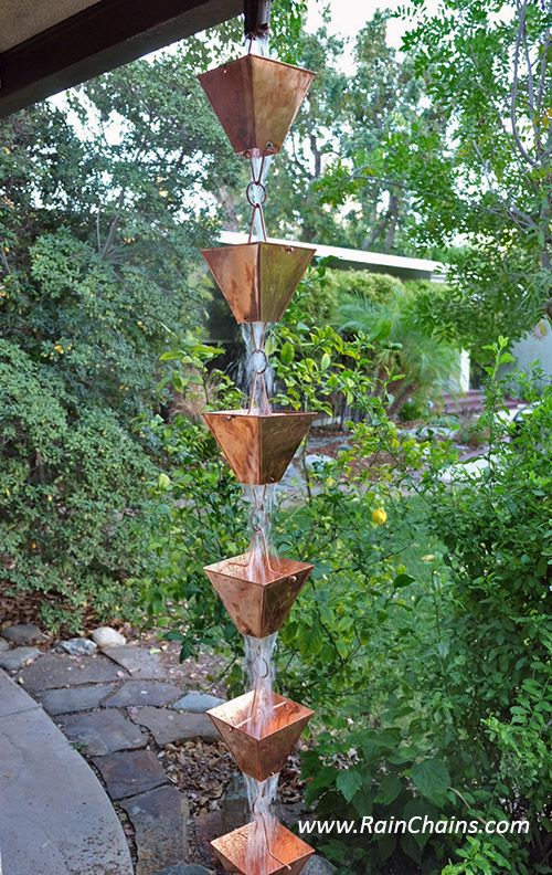 Buy Direct At Discounted Prices Rainchain Rainchains Downspouts Rain Chain Outdoor Backyard Farming