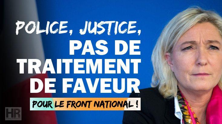 Le journal de BORIS VICTOR : POLICE/JUSTICE : Marine Le Pen n'est pas au dessus...