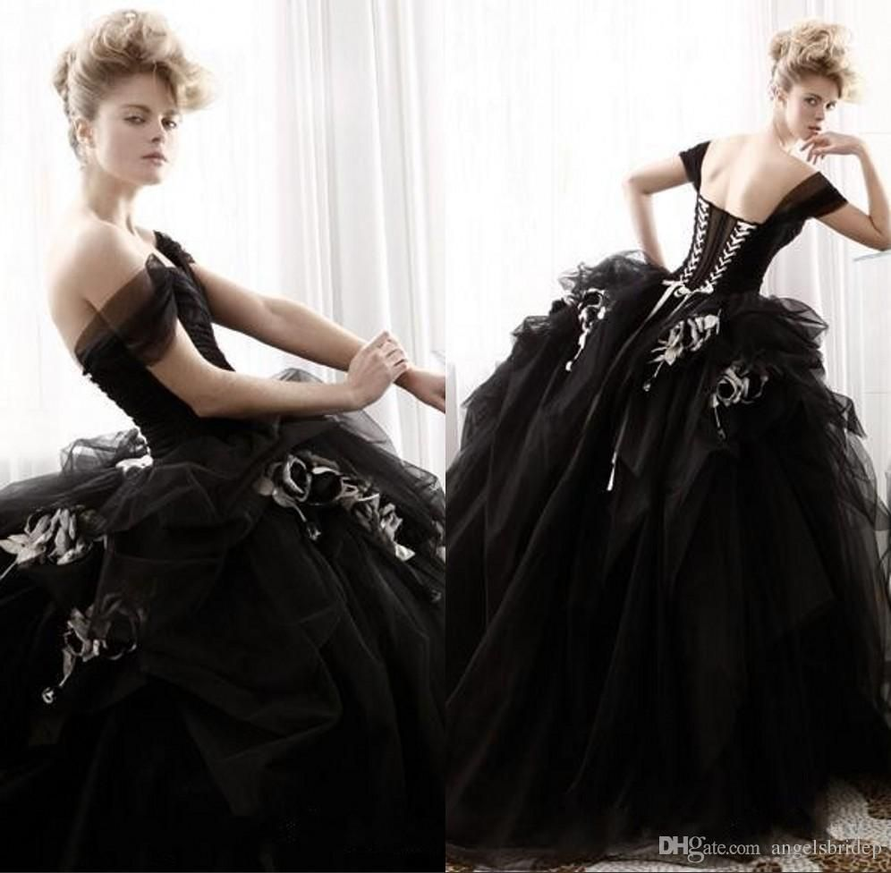 Victorian Black Gothic Wedding Dresses Ball Gowns 2015 Christmas ...