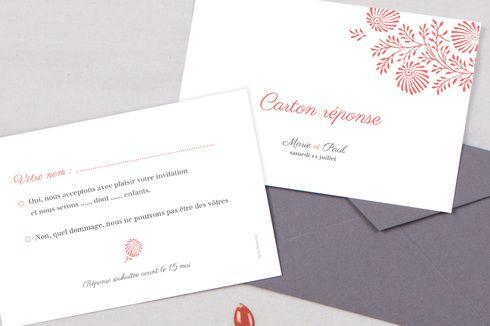 Idee Texte Carton Reponse Wedding Invitations Stationery