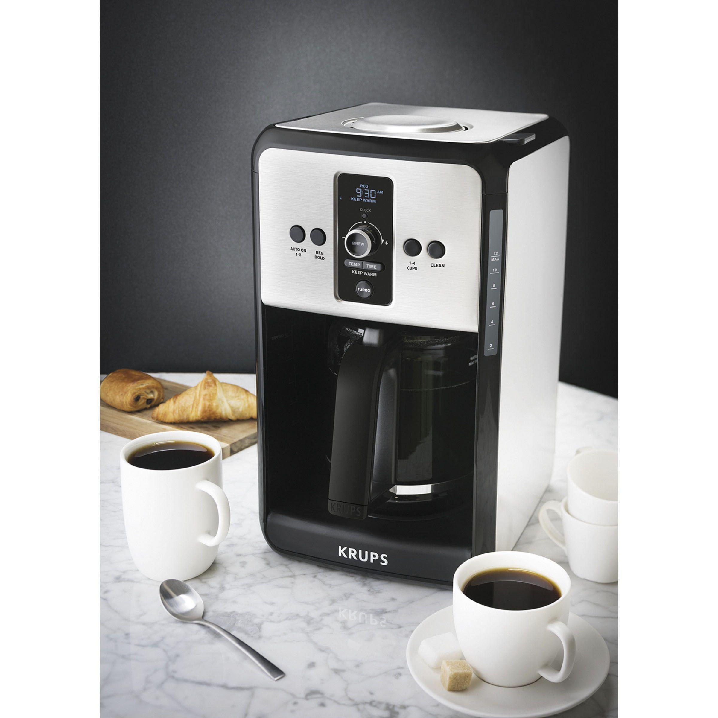Krups Ec412050 Savoy Turbo Coffee Maker (Blackstainless) (Stainless Steel)