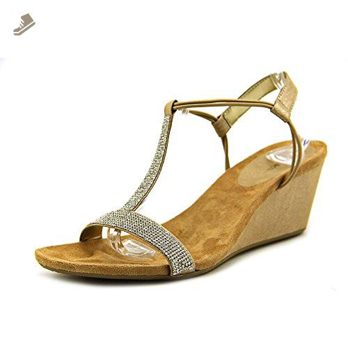 6ef2fd1d568 Style   Co Mulan Women US 8.5 Brown Wedge Sandal - Style co pumps for women  ( Amazon Partner-Link)
