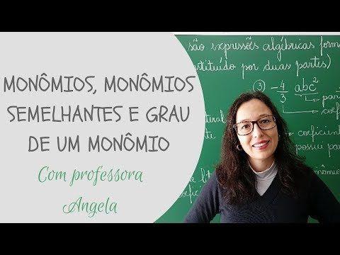 Monomios Monomios Semelhantes E Grau De Um Monomio Professora