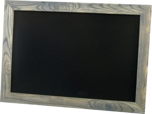 Basement.  Chalkboards with color grain frames