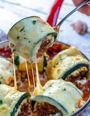 These Mushroom Zucchini Lasagna Rolls are AMAZING