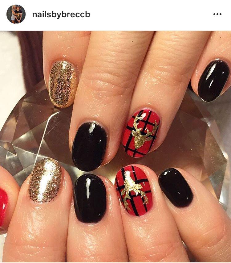 Jessica Christmas Nails: Pin By Jessica Birdwell Blalock On Christmas Nail Art