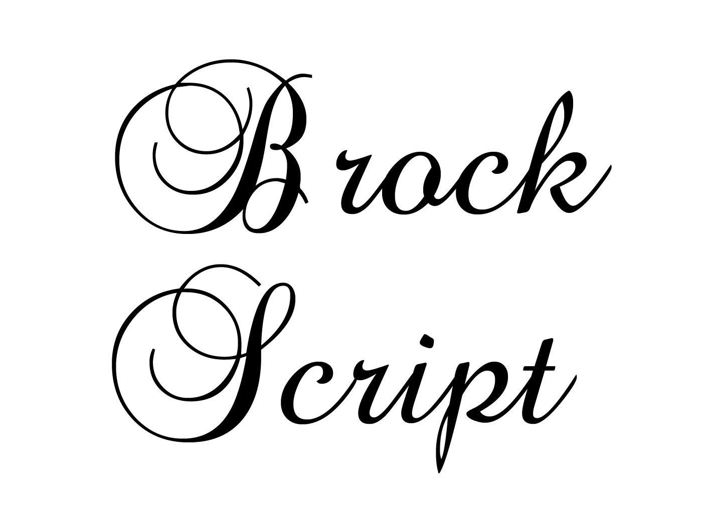 Fancy calligraphy font squirel brock script da