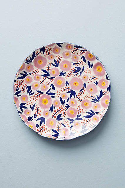 Gemalte Mohnblumen-Seitenplatte Leah Goren,  #gemalte #goren #mohnblumen #seitenplatte #ceramicpainting
