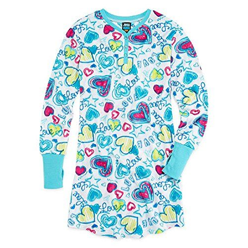 25b8fb80b3 Jellifish Heart-Print Fleece Sleep Shirt Girls XS (4-5)