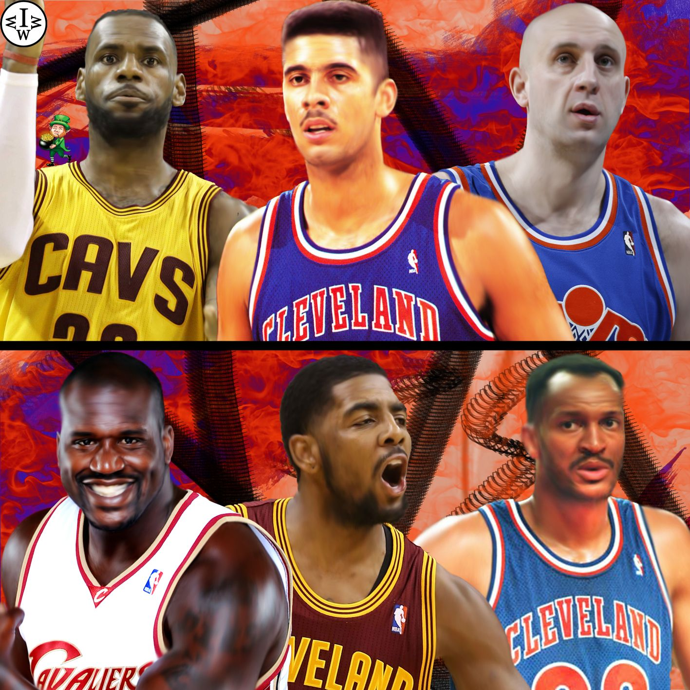 All Cavs Edition Lebron James Brad Daugherty and Zydrunas