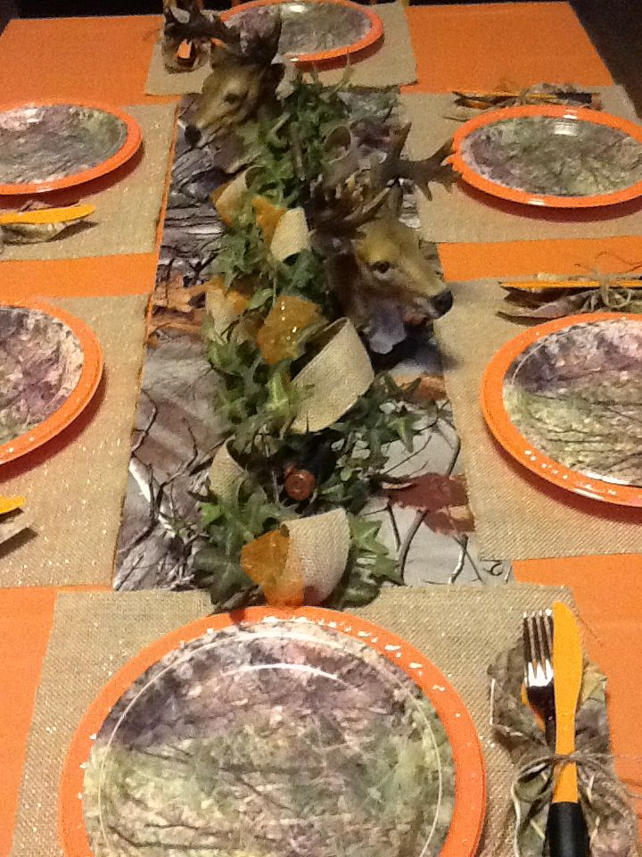 Camo Table Runner Settings Wedding Decorations Runners