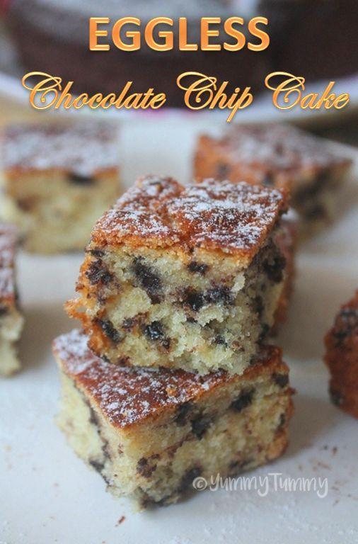 Super moist eggless chocolate chip cake recipe which taste ...