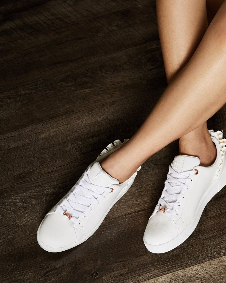 Ruffle detail trainers - White | Shoes