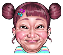 Tersenyum Koleksi Stiker Line Line Store Wajah Lucu Kartun Lucu Gambar Kartun