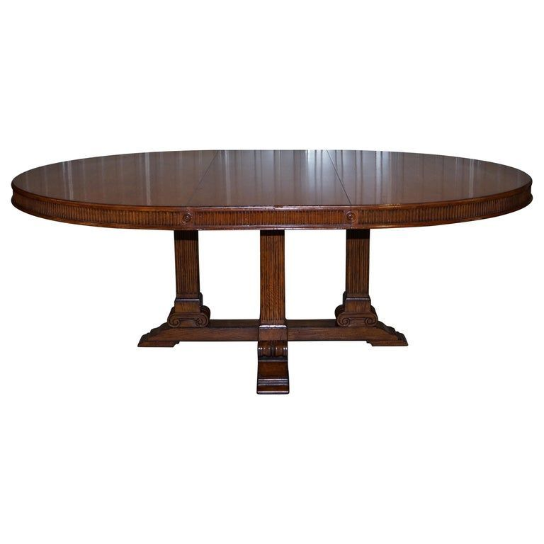 Ralph Lauren Dining Room Table Dining Table Hither Hills 6 10 Person Oval Extending American Modern Oak American Dining Extending Hills Lauren Modern In 2020