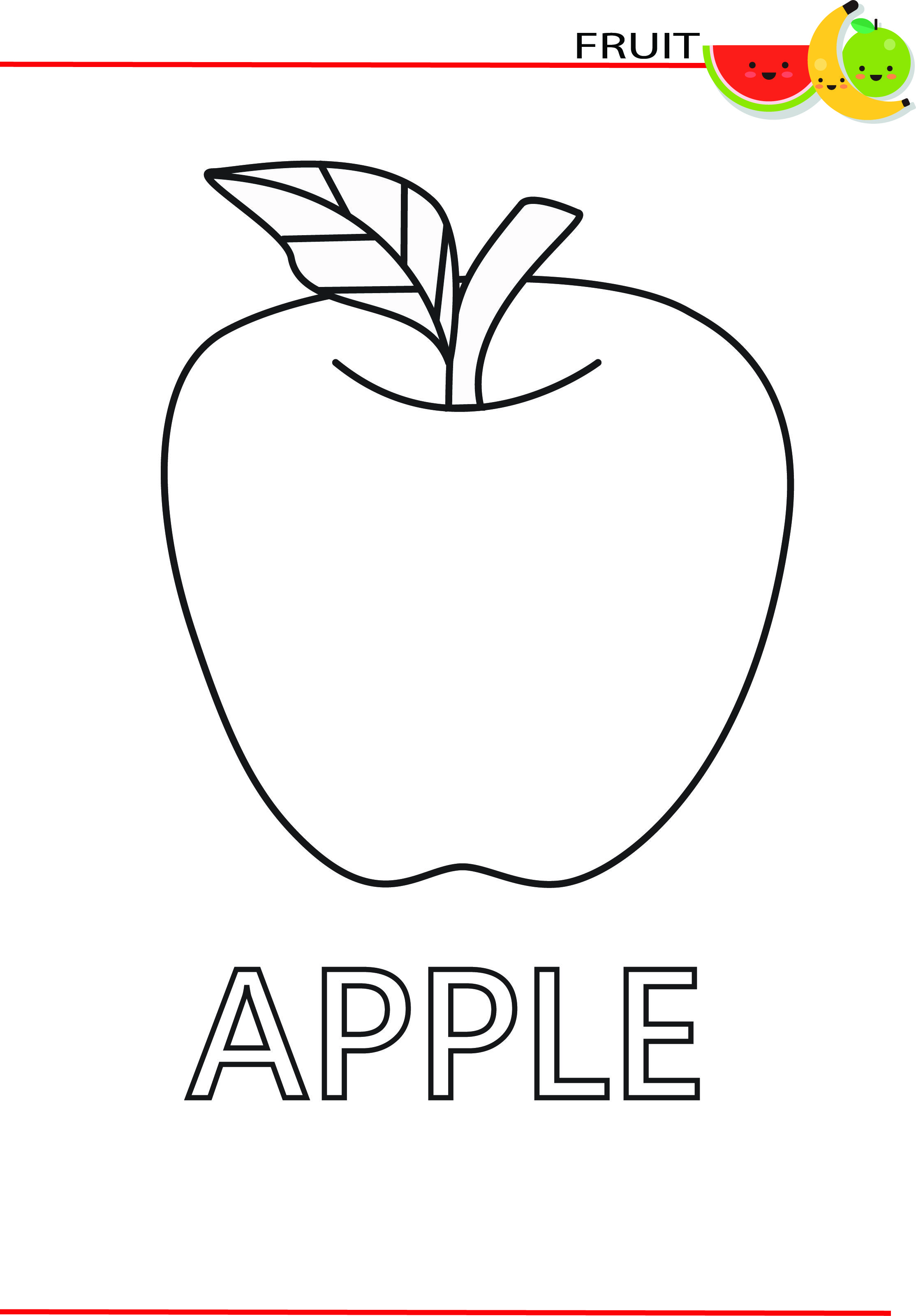 Drawing And Colouring Fruits Fruit Coloring Pages Toddler Coloring Book Fruits For Kids