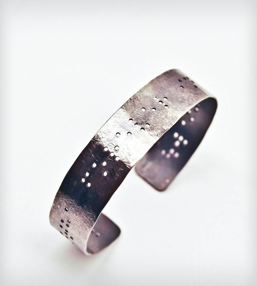 All that glitters braille bracelet pendants bracelets and